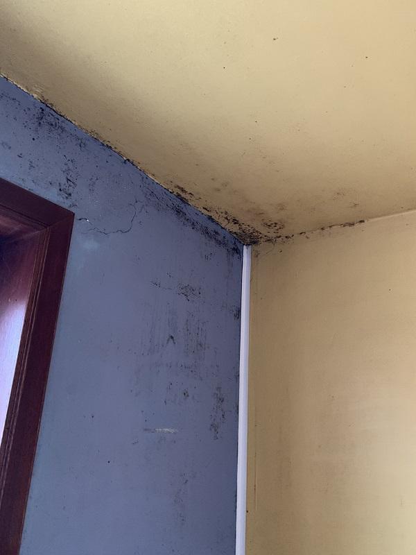 taches noires à cause d'une mauvaise ventilation
